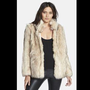 TOPSHOP 'Leah' Faux Fur Coat
